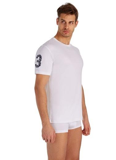 U.S. Polo Assn. Yuvarlak Yaka T-Shirt Beyaz